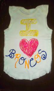 My'isha's Bronco sleeveless onesie