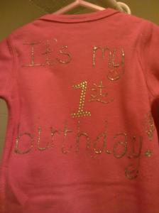 This is the first onesie I made for My'isha.